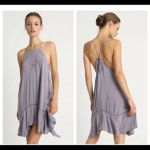 Free People Women's Lilac Shift Dress